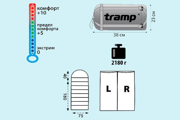 мешок спальный tramp nightlife (v2)