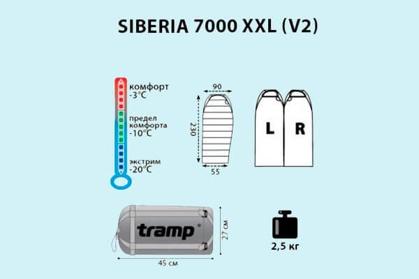 мешок спальный tramp siberia 7000 xxl (v2)