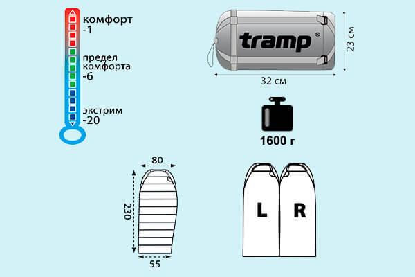 мешок спальный tramp winnipeg (v2)